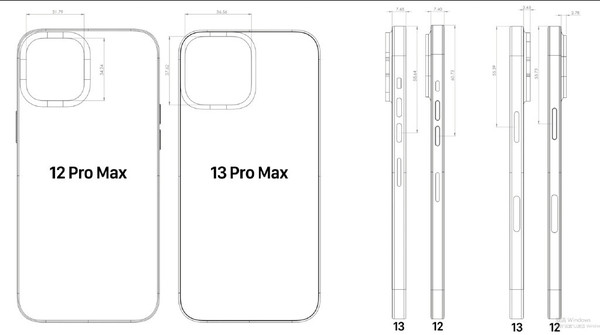 iPhone 13 Pro Max与iPhone 12 Pro Max参数对比