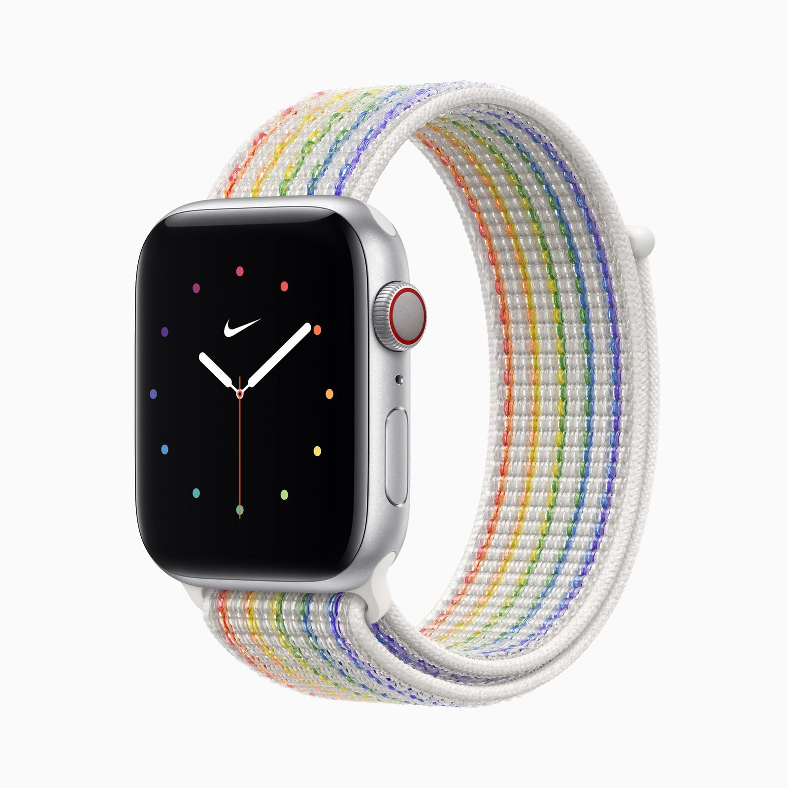 苹果发布骄傲版 Apple Watch 编织独绳圈和耐克运动圈