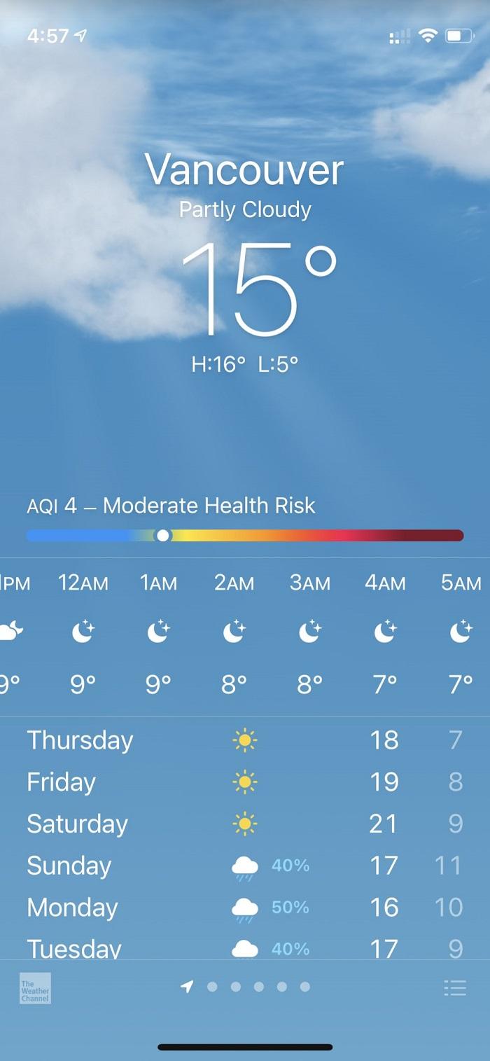 苹果更新iOS 14.7 Beta 将空气质量指数功能拓展到更多市场