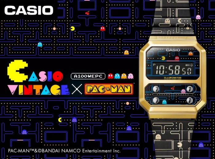 卡西欧推出一款《吃豆人》主题复古手表