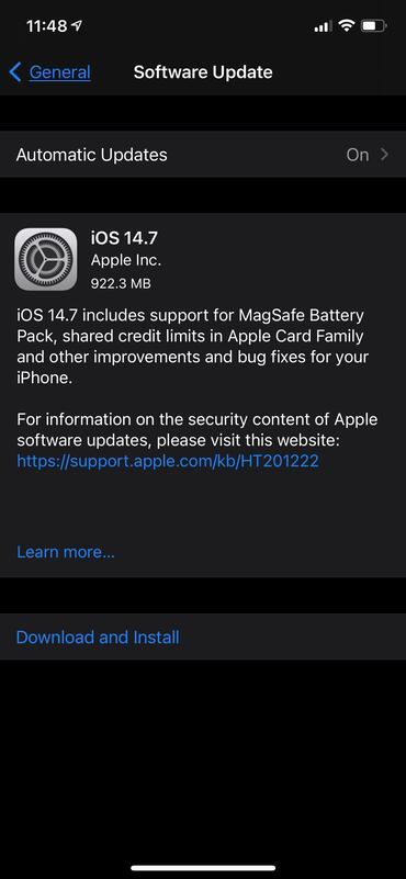 苹果确认iOS 14.7已修复无线热点名称Bug
