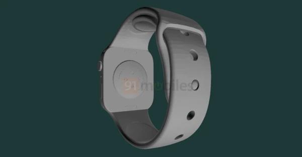 疑似 Apple Watch Series 7 CAD 渲染图曝光,直角边设计