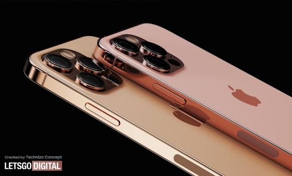 设计师分享 iPhone 13 系列新渲染图:新款日落金和玫瑰金配色