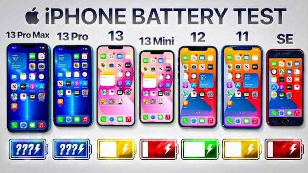 iPhone 13系列续航测试:最大的续航最长 近10个小时