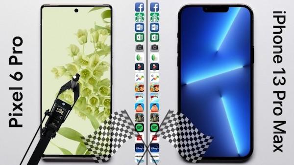 智能机速度测试:iPhone 13 Pro Max险胜Pixel 6 Pro