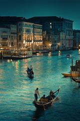 ,威尼斯,夜景,平静,