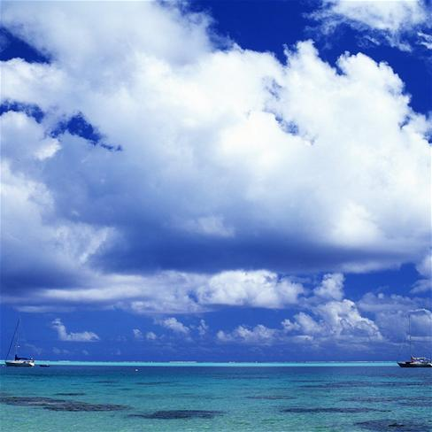 蓝天白云壁纸,大海壁纸