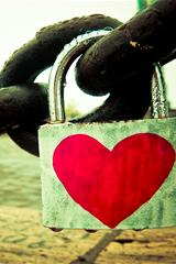 ,心,爱情,锁,