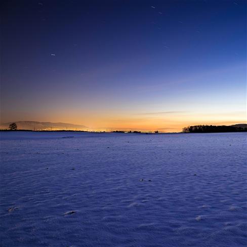 雪地,傍晚,黄昏,夜空,风景,蓝色