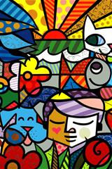 ,色彩,玻璃画,艺术,创意,彩色,