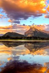,湖,宁静,远山,