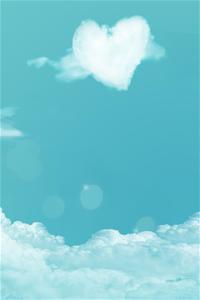 云,云端,天生一对,心形,壁纸,云朵,蓝色图片