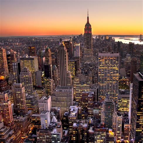 纽约,美国,城市,高楼,大厦,彩色