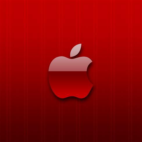 红色空心苹果矢量图