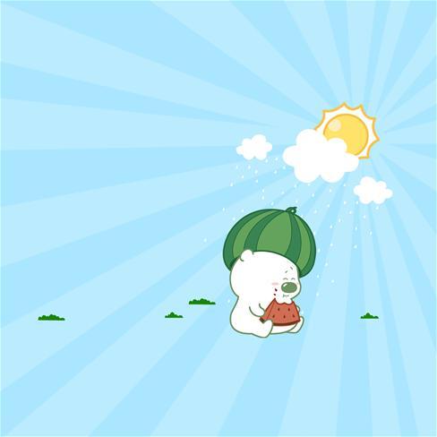夏天,西瓜,可爱