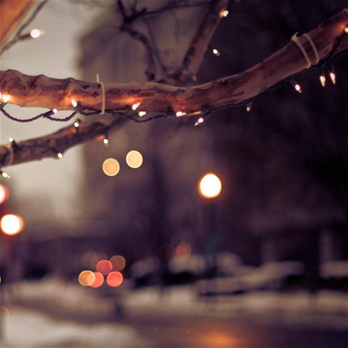 唯美,灯光,夜晚,风景,紫色