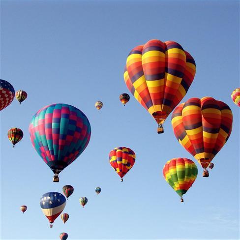 热气球,蓝天,自然,唯美,风景,蓝色