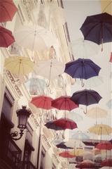 ,雨伞,午后,阳光,慵懒,