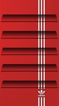 adidas三叶草手机壁纸-阿迪达斯店立体效果图图片