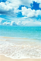 ,大海,蓝天,白云,风景,红色,
