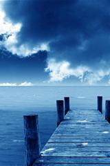 ,风景,大海,桥,蓝天,白云,