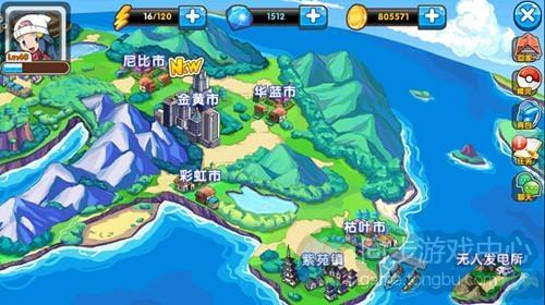 神奇宝贝地图 神奇宝贝绿叶版野生园野区地图图片