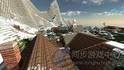 雪山下的城镇