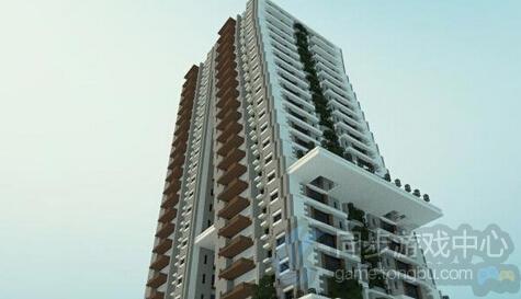 倾斜现代公寓