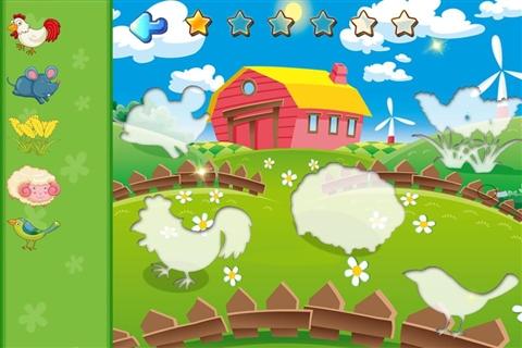 宝宝开心农场动物园拼图