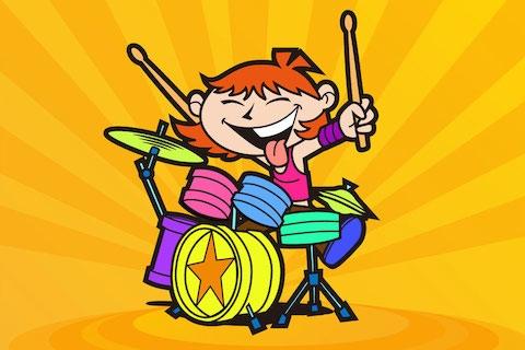 还有可爱的小狗小猫架子鼓