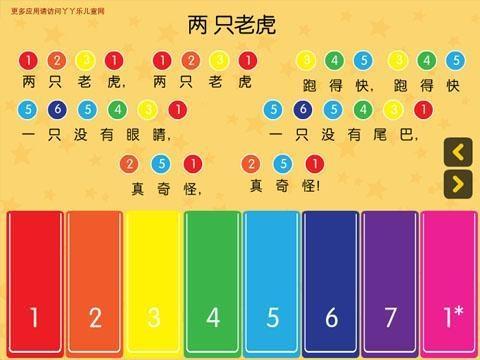 生日歌钢琴简谱-3;